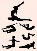 Pilates gesture silhouette 01 Good use for symbol logo web icon mascot sign or any design you want