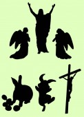 Easter silhouette 01 Good use for symbol logo web icon mascot sign or any design you want