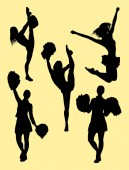 Cheerleader silhouette 04 Good use for symbol logo web icon mascot sign or any design you want