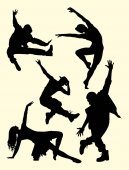 Dancer activity silhouette 01 Good use for symbol logo web icon mascot sign or any design you want