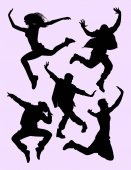 Dancer activity silhouette 02 Good use for symbol logo web icon mascot sign or any design you want