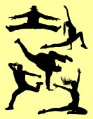 Dancer activity silhouette 04 Good use for symbol logo web icon mascot sign or any design you want