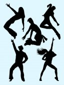 Dancer activity silhouette 03 Good use for symbol logo web icon mascot sign or any design you want