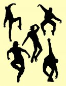Dancer activity silhouette 11 Good use for symbol logo web icon mascot sign or any design you want
