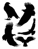 Eagle silhouette 01 Good use for symbol logo web icon mascot sign or any design you want