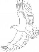 Eagle line art 01 Good use for symbol logo web icon mascot sign or any design you want