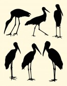 Stork birds silhouette 02 Good use for symbol logo web icon mascot sign or any design you want