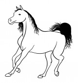 Horse line art 04 Good use for symbol logo web icon mascot coloring sign or any design you want