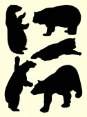 Bear animal detail silhouette 04 Vector illustration Good use for symbol logo web icon mascot sign or any design you want