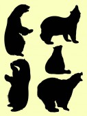 Bear animal detail silhouette 03 Vector illustration Good use for symbol logo web icon mascot sign or any design you want