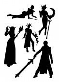 Cosplay detail silhouette 04 Good use for symbol logo web icon mascot sign or any design you want