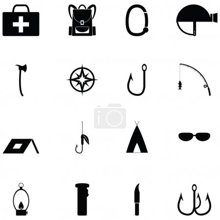 Illustration for Survival kit icon set - Royalty Free Image
