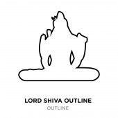 lord shiva outline images on white background vector illustrati