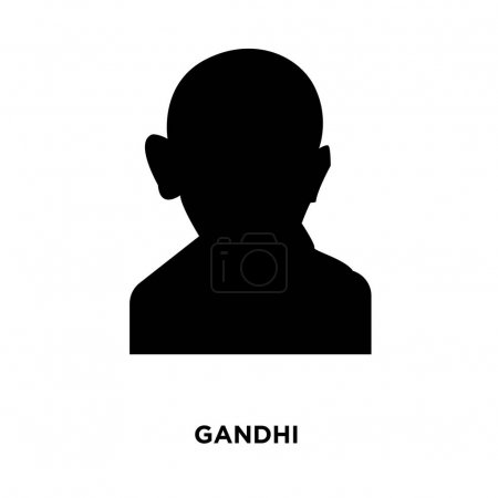 gandhi silhouette images on white