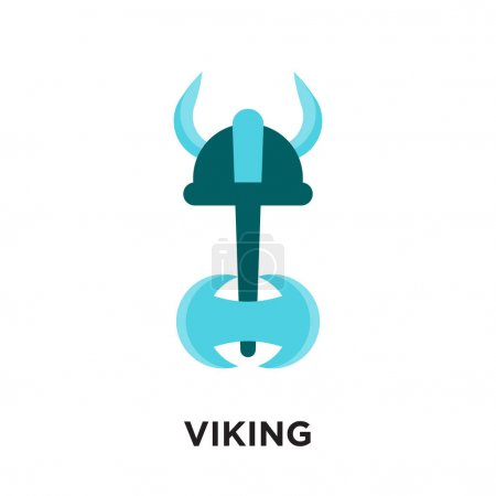 Viking logo isolated on white background for your ...