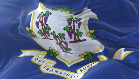 Flag of Connecticut state, region of the United St...