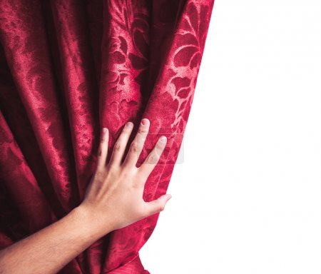 theater curtain on white background