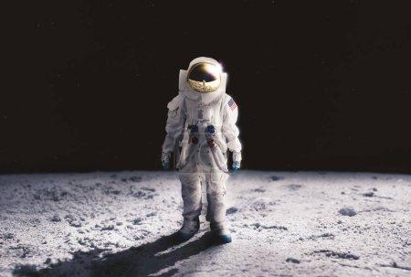 Astronaut walking on the moon