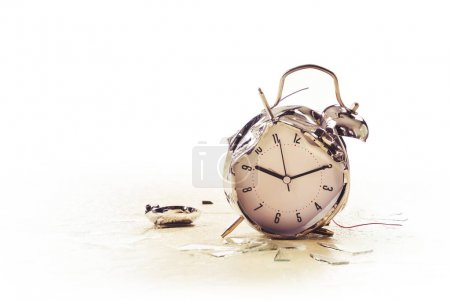 photo of a destroyed alarm clock