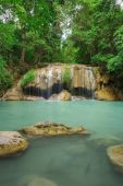 Level 2 of Erawan Waterfall in Kanchanaburi, Thailand