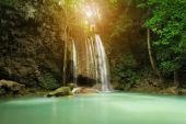 Level 3 of Erawan Waterfall in Kanchanaburi, Thailand