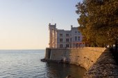 Sunset View of Miramare Castle in Trieste
