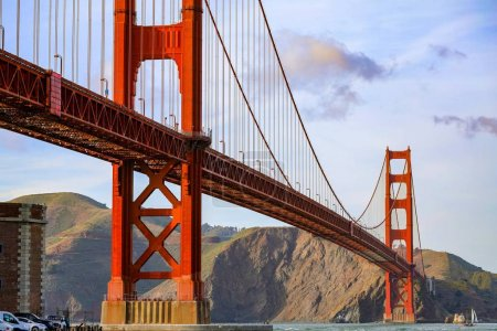 The Golden Gate Bridge, a view from Fort Point