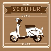 white scooter fashionable barber