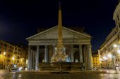 Rome, Italy. Pantheon at night.