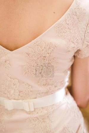 Photo for Elegant wedding dress with gorgeous fabric - Royalty Free Image