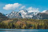 Strbske Pleso, beautiful lake in Tatra Mountains in Slovakia