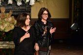 Designers Yolanda and Cristina greet the audience