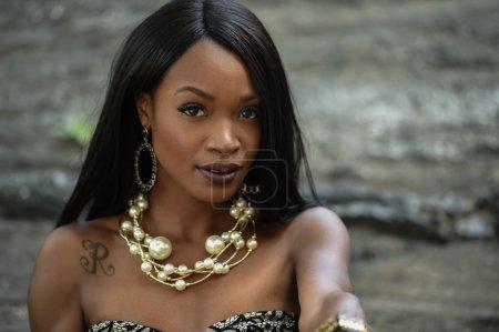 African American fashion model