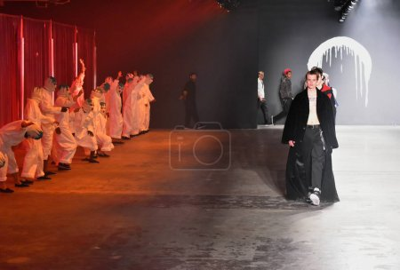 Dancers performs at the Rochambeau Runway show