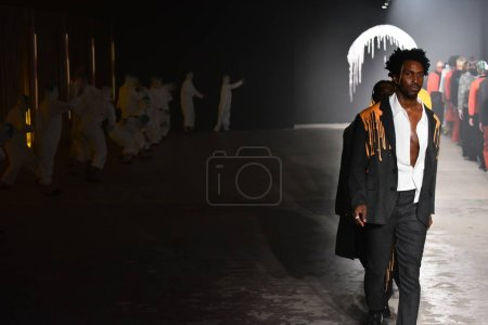 Models walk at the Rochambeau  Runway