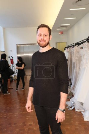 NEW YORK, NY - APRIL 13: Designer Justin Alexander posing backstage before the Justin Alexander Spring 2019  Bridal Fashion show on April 13, 2018 in New York City.