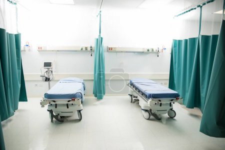 Empty emergency room in hospital