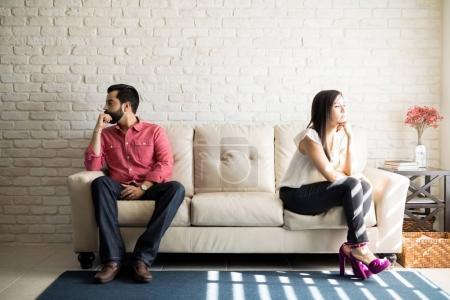 Husband and wife after quarrel