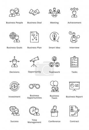 Illustration for This set contains business icons that can be used for designing and developing websites, as well as printed materials and presentations. - Royalty Free Image