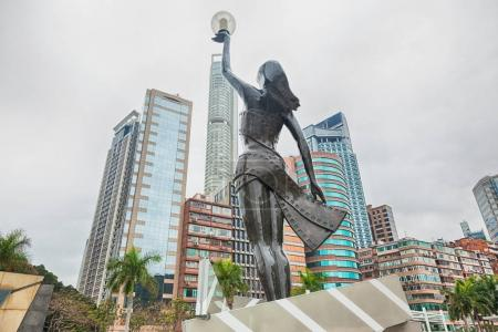 Statue in Avenue of Stars in Hong Kong