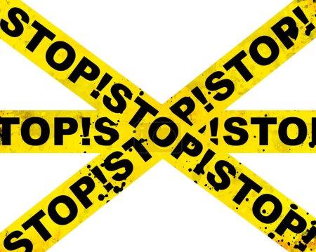 Photo pour Grunge stop fond avec des rayures abstraites - image libre de droit