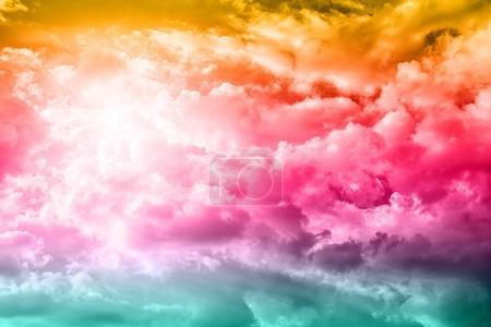 Beautiful blue sky clouds