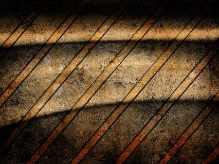 Photo pour Fond d'avertissement à rayures jaunes - image libre de droit