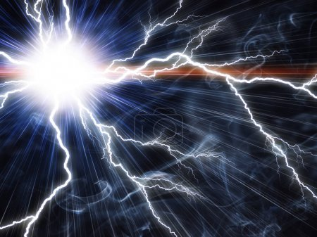 Electric flash of lightning