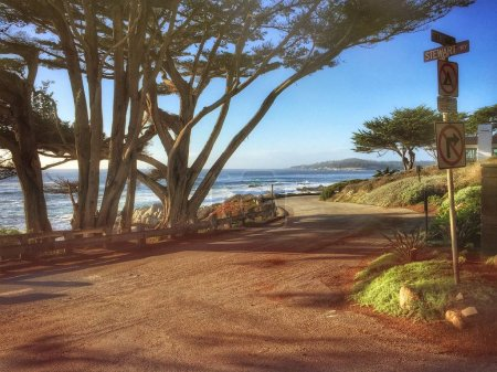 Pacific Coast road in California, USA
