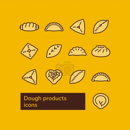 Vector line icons set...