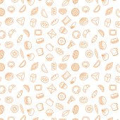 Bakery products Fast food Patty pattern stroke