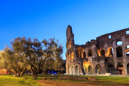 Entrance to the the Colosseum in Rome, Italy