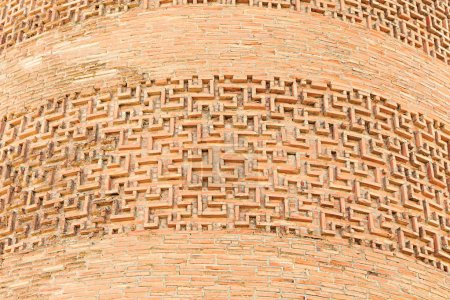 Ornament on the Tower Burana. The monument of architecture of XI
