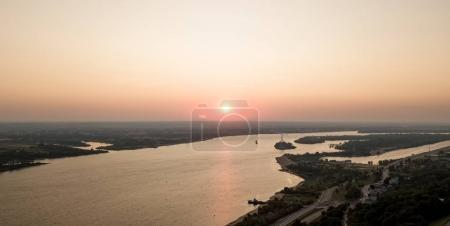 Sunrise over the Volga. Nizhny Novgorod, Russia
